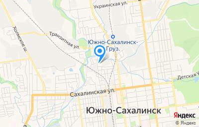 Местоположение на карте пункта техосмотра по адресу г Южно-Сахалинск, ул Песочная, д 6/1