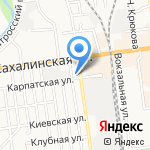 Декабист на карте Южно-Сахалинска