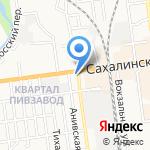 Мясная лавка на карте Южно-Сахалинска