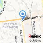 Град-экс на карте Южно-Сахалинска