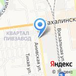 Змачинский на карте Южно-Сахалинска