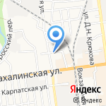 Мальцев на карте Южно-Сахалинска