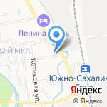 На Гаражной на карте Южно-Сахалинска