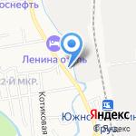 Транзит на карте Южно-Сахалинска