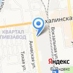 Магазин строительных материалов на карте Южно-Сахалинска