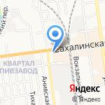 Мяу на карте Южно-Сахалинска