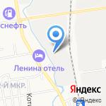Россэн на карте Южно-Сахалинска