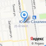 Баня №6 на карте Южно-Сахалинска