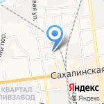 Эйркон на карте Южно-Сахалинска