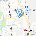 Автомастерская на карте Южно-Сахалинска
