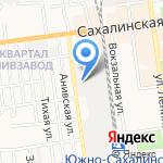 Кузовок на карте Южно-Сахалинска