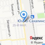 Росянка на карте Южно-Сахалинска