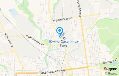 Местоположение на карте пункта техосмотра по адресу г Южно-Сахалинск, ул Ленина, д 14