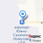 Мой рейс на карте Южно-Сахалинска