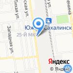 Ремонтное локомотивное депо на карте Южно-Сахалинска