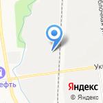 Заречное на карте Южно-Сахалинска