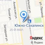 РЖД на карте Южно-Сахалинска
