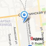Владимирская Фабрика дверей на карте Южно-Сахалинска