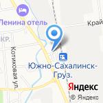 Русич на карте Южно-Сахалинска