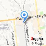 Сах Фиш на карте Южно-Сахалинска