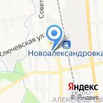 Горизонт на карте Южно-Сахалинска