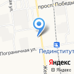 Зональное на карте Южно-Сахалинска