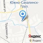 Санэко на карте Южно-Сахалинска