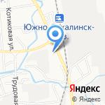 Компания оптово-розничной продажи стройматериалов на карте Южно-Сахалинска