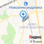 Любава на карте Южно-Сахалинска