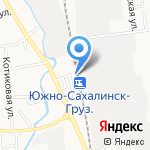 Южно-Сахалинск грузовой на карте Южно-Сахалинска