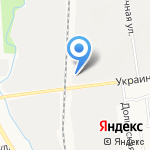 Славдон на карте Южно-Сахалинска