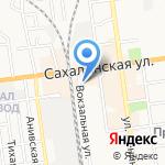 Магазин по продаже меда из Башкирии на карте Южно-Сахалинска