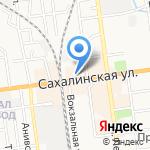 Монолит-Кит на карте Южно-Сахалинска