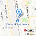 Почтовое отделение №19 на карте Южно-Сахалинска