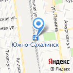 Продуктовый магазин на карте Южно-Сахалинска