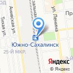 Интер-тур на карте Южно-Сахалинска