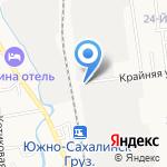 Виола на карте Южно-Сахалинска