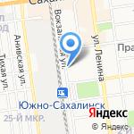 Дом культуры Железнодорожников на карте Южно-Сахалинска