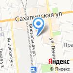 Куин-экспресс на карте Южно-Сахалинска