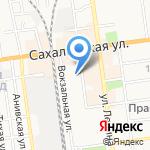 Андромеда на карте Южно-Сахалинска