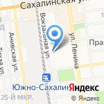 Автономер-65 на карте Южно-Сахалинска