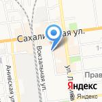 Офис 2000 на карте Южно-Сахалинска