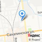 Sot`ы на карте Южно-Сахалинска