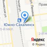 Автовокзал на карте Южно-Сахалинска