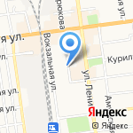 Вест Декоратив на карте Южно-Сахалинска