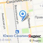 Служба эвакуации и скорой технической помощи на карте Южно-Сахалинска