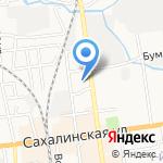 Агама на карте Южно-Сахалинска