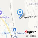 Айна на карте Южно-Сахалинска