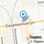 Гулливер на карте Южно-Сахалинска