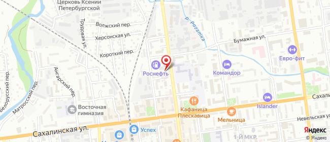Карта расположения пункта доставки Южно-Сахалинск Ленина в городе Южно-Сахалинск